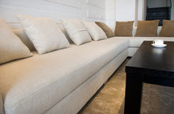 Sala de estar moderna contemporânea Imagens de Stock Royalty Free