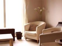 Sala de estar moderna contemporânea com lírios Fotos de Stock