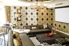 Sala de estar moderna de lujo fotos de archivo