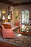 Sala de estar moderna y forma de vida Imágenes de archivo libres de regalías