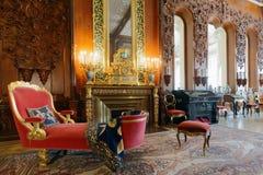 Sala de estar musical do palácio de Yusupov em St Petersburg, Rússia Fotografia de Stock