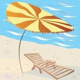 Sala de estar na praia Fotografia de Stock Royalty Free