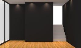 Sala de estar negra Fotografía de archivo