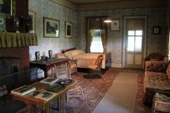Sala de estar onde Ulysses S Grant tirou sua última respiração, Grant Cottage, New York, 2014 fotos de stock royalty free