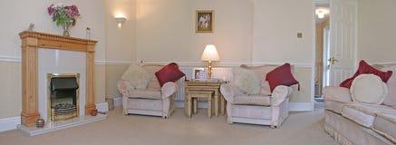 Sala de estar (panorámica) Imágenes de archivo libres de regalías