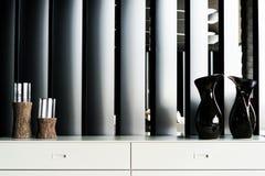 Sala de estar que adorna los tarros y el objeto de los círculos imagen de archivo libre de regalías