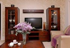 Sala de estar retra Fotos de archivo libres de regalías