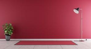 Sala de estar roja Imagen de archivo libre de regalías