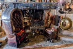 Sala de estar, señorío de Snowshill, Gloucestershire, Inglaterra imagen de archivo