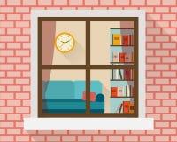 Sala de estar a través de la ventana Fotos de archivo