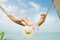 Sala de estar tropica Fotografia de Stock Royalty Free