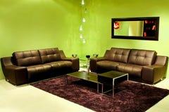 Sala de estar verde Fotos de archivo libres de regalías