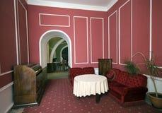 Sala de estar vermelha Fotografia de Stock Royalty Free