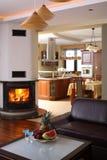 Sala de estar y cocina Fotografía de archivo libre de regalías