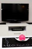 Sala de estar y TV foto de archivo libre de regalías