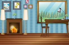 Sala de estudo Foto de Stock Royalty Free