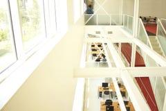 Sala de estudo branca Fotos de Stock Royalty Free