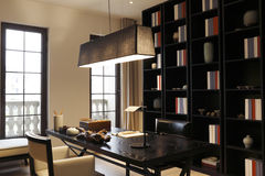 A sala de estudo quieta imagens de stock royalty free