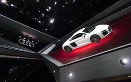 Sala de exposições de Audi nos carros de IAA Foto de Stock