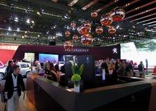 Sala de exposições de Peugeot nos carros de IAA Fotografia de Stock Royalty Free