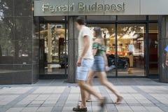 Sala de exposições de Ferrari em Budapest fotos de stock