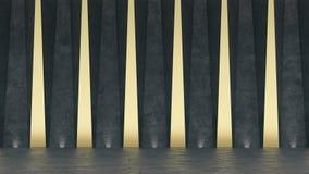 sala de exposición concreta abstracta 3d Diseño geométrico moderno Fondo blanco del piso y de la pared ilustración del vector