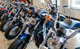 Sala de exposición de la motocicleta Fotos de archivo