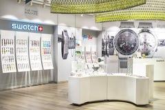 Sala de exposición de Swatch fotografía de archivo libre de regalías
