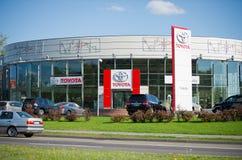 Sala de exposición oficial de la representación de Toyota Fotografía de archivo libre de regalías