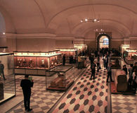 Sala de exposiciones egipcia Fotografía de archivo