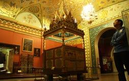 Sala de exposiciones en un museo histórico del estado de Moscú Foto de archivo libre de regalías