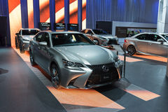 Sala de exposições de Lexus na exposição Imagem de Stock