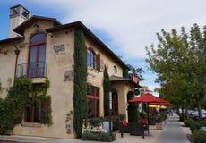 Sala de gosto de Ranch Winery do padre no coração de Yountville, Napa Valley foto de stock