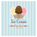 Sala de helado Fotografía de archivo libre de regalías