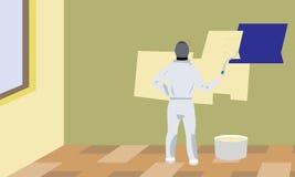 Sala de homem do pintor ilustração royalty free
