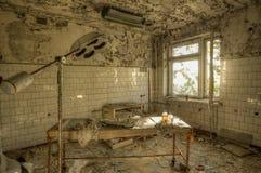 Sala de hospital em Pripyat (HDR) Foto de Stock Royalty Free