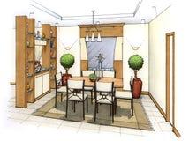 Sala de jantar Ilustração do Vetor
