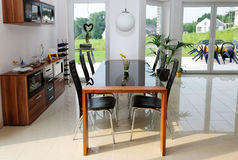 Sala de jantar. Imagens de Stock Royalty Free