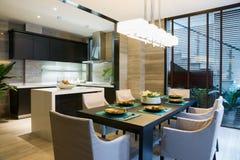 Sala de jantar agradável Imagem de Stock Royalty Free