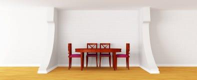 Sala de jantar branca moderna Fotografia de Stock Royalty Free