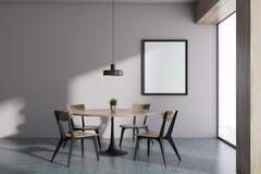 Sala de jantar branca panorâmico de Minimalistic, quadro imagem de stock royalty free