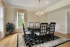 Sala de jantar com tabela preta Fotografia de Stock