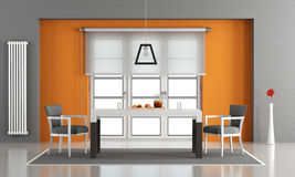 Sala de jantar contemporânea Fotografia de Stock