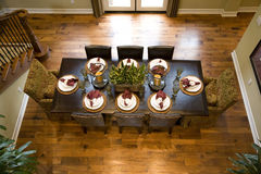 Sala de jantar da mansão fotografia de stock