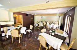 Sala de jantar do hotel Fotografia de Stock