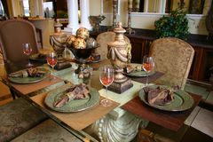 Sala de jantar formal Fotografia de Stock Royalty Free