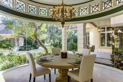 Sala de jantar formal home luxuosa de Florida Imagens de Stock