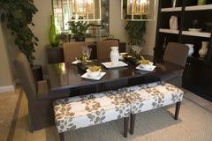 Sala de jantar home luxuosa. Imagem de Stock