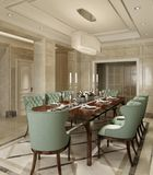 Sala de jantar interior em uma ilustração clássica do estilo 3d Foto de Stock