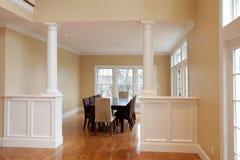 Sala de jantar interior moderna Imagem de Stock